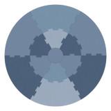 Sebra Spielmatte, wolkenblau