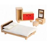 PlanToys Puppenmöbel Schlafzimmer