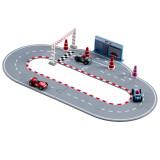 Kids Concept Autorennbahn mit Rennautos, blau