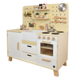 Meppi Copenhagen Wooden Pretend Play Toy Kitchen - white / nature