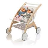 MUSTERKIND Puppen-ZwillingsWagen - Barlia natur/weiß