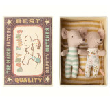 Maileg Maus Baby Zwillinge mit Box