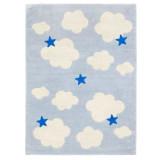 Kids Concept Teppich Wolke blau