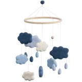 Sebra Filz-Babymobile, Wolken königsblau