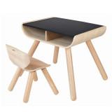 Plan Toys Tisch & Stuhl schwarz
