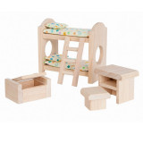PlanToys Puppenmöbel Kinderzimmer Classic