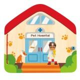 Hape Visita el libro magnético del veterinario - E3016