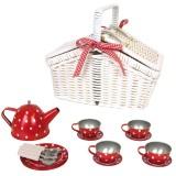 Jabadabado Picknickkorb Tee-Set aus Blech