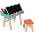Janod Schreibtisch-Kombination Holz blau/ orange