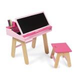 Jando Schreibtisch Kombination Holz rose/ pink