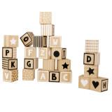 Jabadabado ABC-Holzwürfel, schwarz & weiß