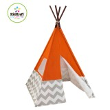 Kidkraft Tienda India - color naranja con gris y blanco chevron