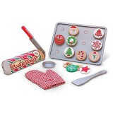 Melissa & Doug 15158 WOODEN SLICE AND BAKE CHRISTMAS COOKIE SET