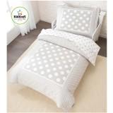 KidKraft Stars & Polka Dots Toddler Bedding - Gray 77009