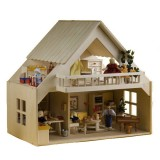 Rülke Puppenhaus mit Balkon natur