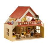 Rülke Puppenhaus mit Balkon rot