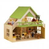 Rülke Puppenhaus mit Balkon grün
