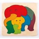 Hape Rainbow Elephant & Baby