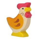 Holztiger Spielfigur Huhn, stehend