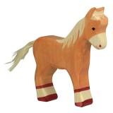 Holztiger Spielfigur Fohlen, stehend, hellbraun