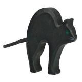 Holztiger Spielfigur Katze, schwarz