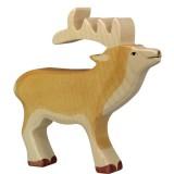 Holztiger Spielfigur Hirsch