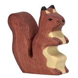 Holztiger Spielfigur Eichhörnchen, braun