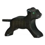 Holztiger Spielfigur Panther, klein