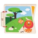 """Hape Livre en bois """"Au Zoo"""" - E0031"""