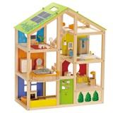 Hape Puppenhaus Vier-Jahreszeiten-Haus inkl. Möbel
