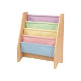 Kidkraft Librero de madera y tela en colores pasteles
