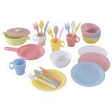 Kidkraft Juego de utensilios de cocina en colores pasteles, 27 piezas